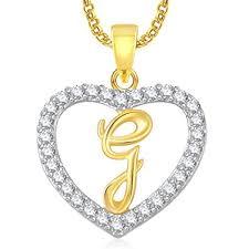 buy meenaz u0027g u0027 letter heart pendant locket alphabet for women and