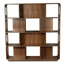 fascinating corner display stand bookcase with unique zigzag