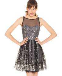 ruby rox juniors dress sleeveless mesh paillettes dresses