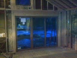 Framing Patio Door Demo Framing And Installation Of A 10 Foot Sliding Glass Door