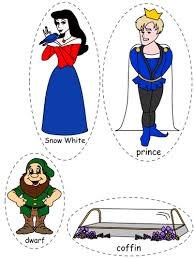 printable version of snow white white felt board characters