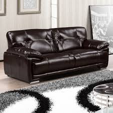 100 Real Leather Sofas Leathaire 100 Real Leather Alternative Espresso Brown Fabric Sofa