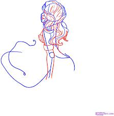 draw cartoon mermaid step step drawing sheets added
