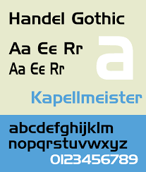 Best Font For A Resume by Handel Gothic Wikipedia