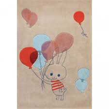 tapis de chambre enfant tapis chambre d enfant multicolore balloon rabbit