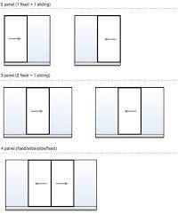Sliding Panels For Patio Door Standard Size Sliding Glass Door