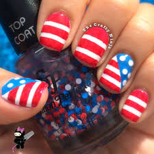 american flag nail art the crafty ninja
