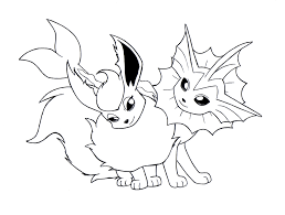 unique pokemon eevee evolutions coloring pages 61 for free