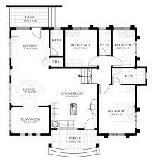 cool 4 bedroom beach house plans images best idea home design