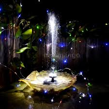 Solar Powered Water Features With Led Lights by Anself Solar Power Water Pump Set Submersible Led For Garden