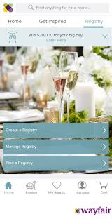 my wedding registry wayfair launches wedding registry for every room of the home
