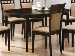 shaped dining table cappuccino finish dining table sets with contemporary coaster oval