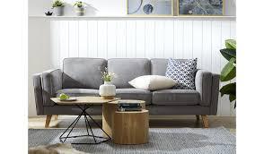 3 Seater 2 Seater Sofa Set Light Grey Scandi Sofa 3 And 2 Seater Sofa Set
