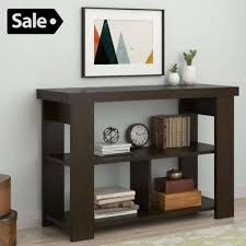 entryway bookcase 3 tier accent sofa console table wood hallway entryway bookshelf