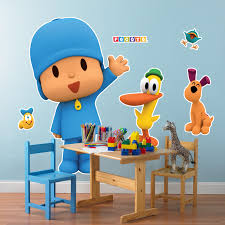 wall clings decals birthdayexpress com pocoyo giant wall decals