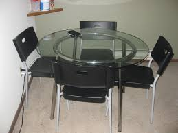 Ikea Glass Dining Table by Ikea Glass Dining Table With 4 Chairs Madison