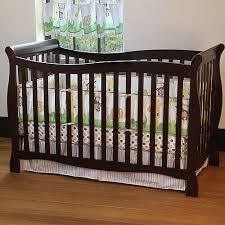 Sleigh Bed Crib Convertible S Child Of Mine 4 In 1 Convertible Crib Chocolate Crib