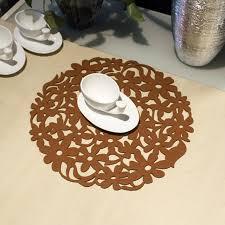 napperon de cuisine nouveau haute qualité 1 pc ronde hollpw out fleur sentait napperon