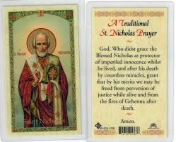 prayer cards a traditional st nicholas prayer laminated prayer card