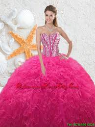 quinceanera dresses 2016 2016 beautiful sweetheart hot pink quinceanera dresses with