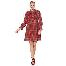 jeffrey banks tartan plaid dress 8465611 hsn