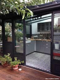 cuisine sous veranda idee couleur cuisine with contemporain véranda et verrière