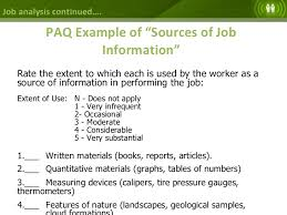 job analysis job design job specification