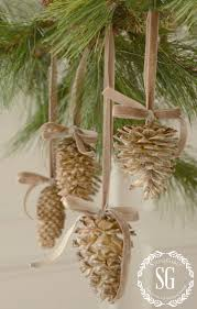 bleached pinecones pinecone holidays and craft