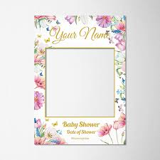 baby shower frames personalised baby shower selfie frame personalized printz