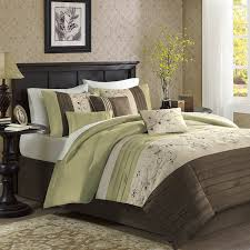 California King Comforters Sets Amazon Com Madison Park Serene 7 Piece Comforter Set King Green