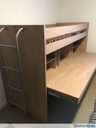 u bureau stapelbed met bureau oakusteel kasten hoogslaper kast bureau with