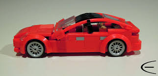 lego nissan lego tesla model s comes to life