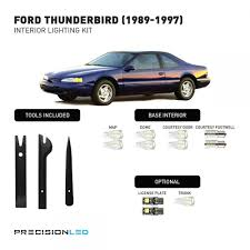 ford thunderbird premium led interior lighting package 1997 1996