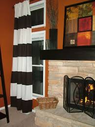 Orange Striped Curtains 18 Best Horizontal Striped Curtains Images On Pinterest Black