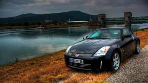 nissan fairlady 350z grass parking lakes hdr photography blurred front view
