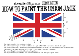 how to paint a union jack using annie sloan dovetails vintage