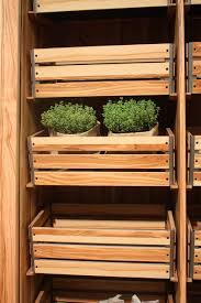 Potato Storage Container Kitchen Wood Kitchen Cabinets Just One Way To Feature Natural Material