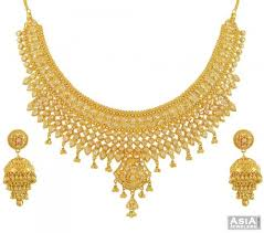 necklace with price images 22kt gold polki necklace set ajns54526 22k gold hand crafted jpg