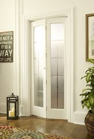 Bi Fold Glass Doors Interior Frosted Glass Bifold Door In Unfinished Or Prefinished Wood