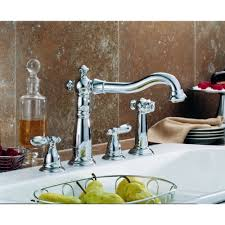 widespread kitchen faucet delta faucet 2256 dst polished chrome two handle with