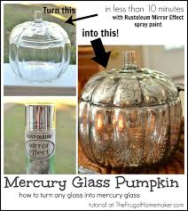 diy mercury glass pumpkin how to turn any glass into mercury