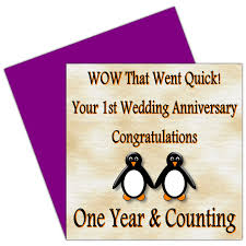 1st year wedding anniversary on your 1st wedding anniversary card 1 year paper anniversary