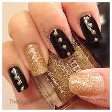 nail art 47 stirring black and gold nail art image design black