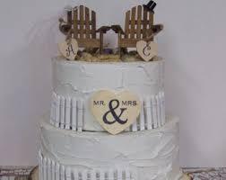 Cake Decorations Beach Theme - personalized cake topper adirondack chairs beach