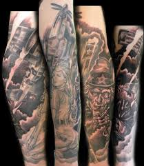 military sleeve by mathew hays tattoonow