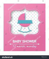 invitation baby shower card cradlecard place stock vector