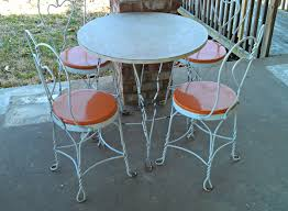Bistro Patio Table And Chairs Vintage Ice Cream Parlor Table Chair Patio Set Retro Patio
