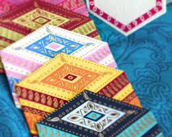 paisley blank greeting card set indian wedding cards
