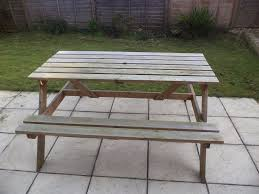 B Q Garden Furniture Garden Bench Table From B U0026q Only 1 Year Old Buyer To Collect In