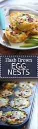 hash brown egg nests with avocado the cooking jar